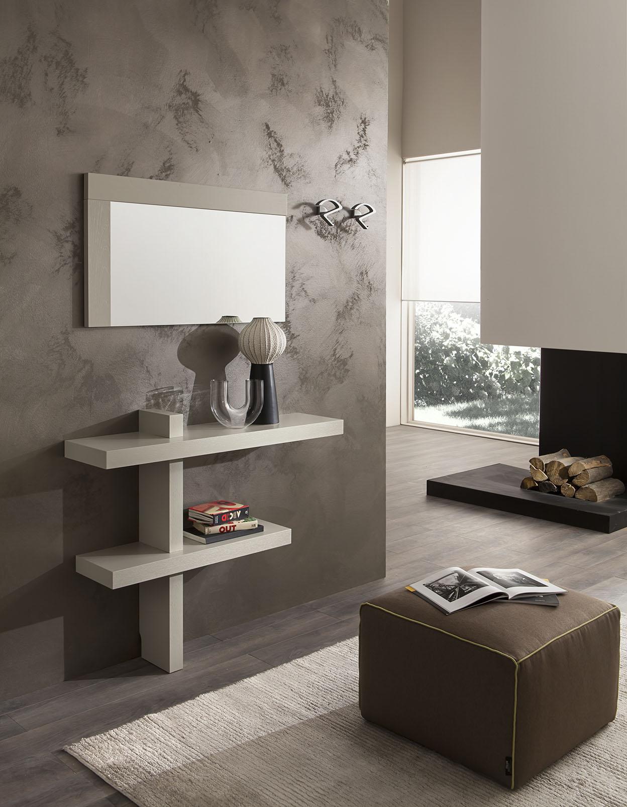 Arredamento Moderno Per Ingresso.Ingresso Moderno Sospeso Con Specchio E Vano A Giorno Sandy 520 00 Tutto Mobili Arredamento Camere Cucine Ufficio Roma