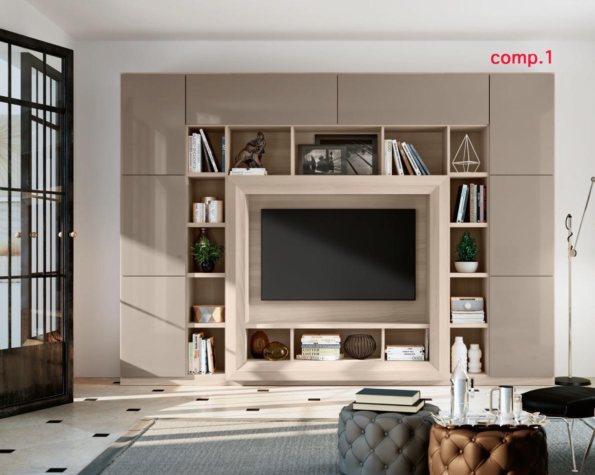 Soggiorno moderno parete libreria tv portale u ac tutto