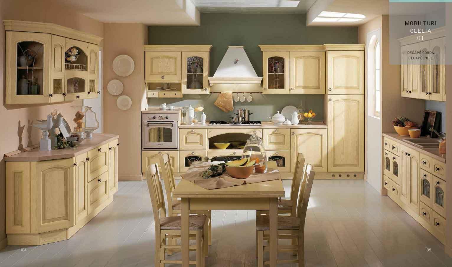Cucina decape 39 classica clelia tutto mobili arredamento - Rivestimenti per cucine classiche ...