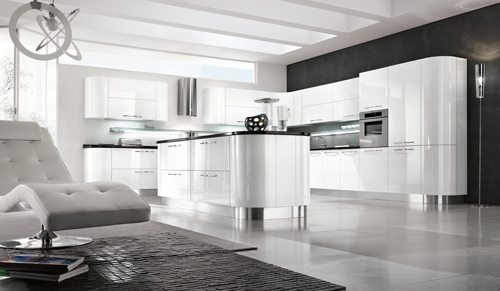 cucina moderna laccata lucida  tutto mobili, arredamento camere, Disegni interni