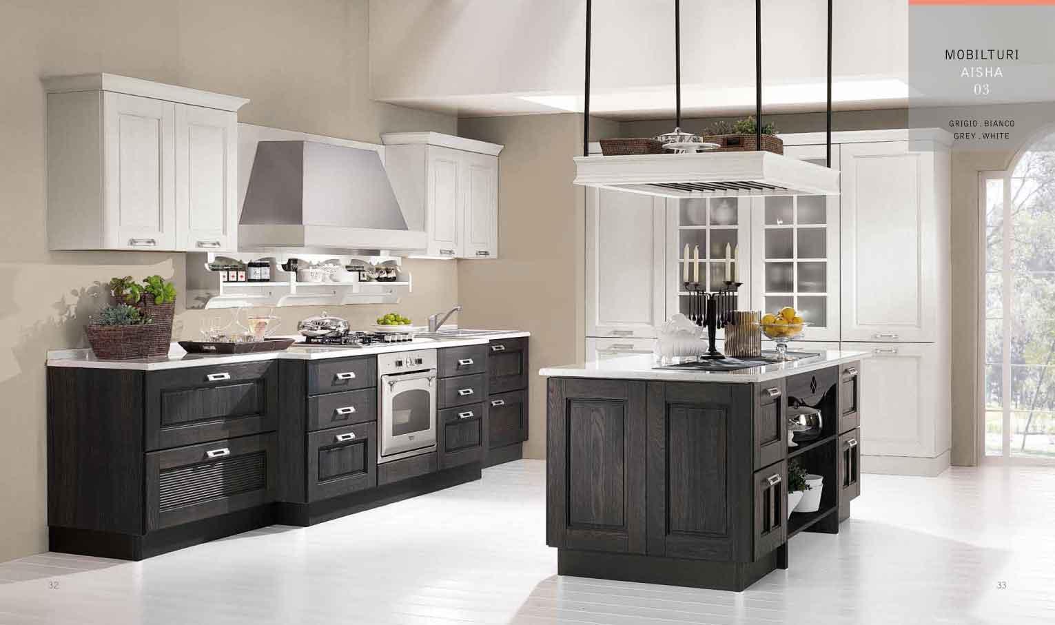 Cucina stile inglese anta frassinata tutto mobili arredamento camere cucine ufficio roma - Mobili stile inglese bianco ...