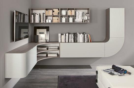 soggiorno minimalista curvo tutto mobili arredamento camere ...
