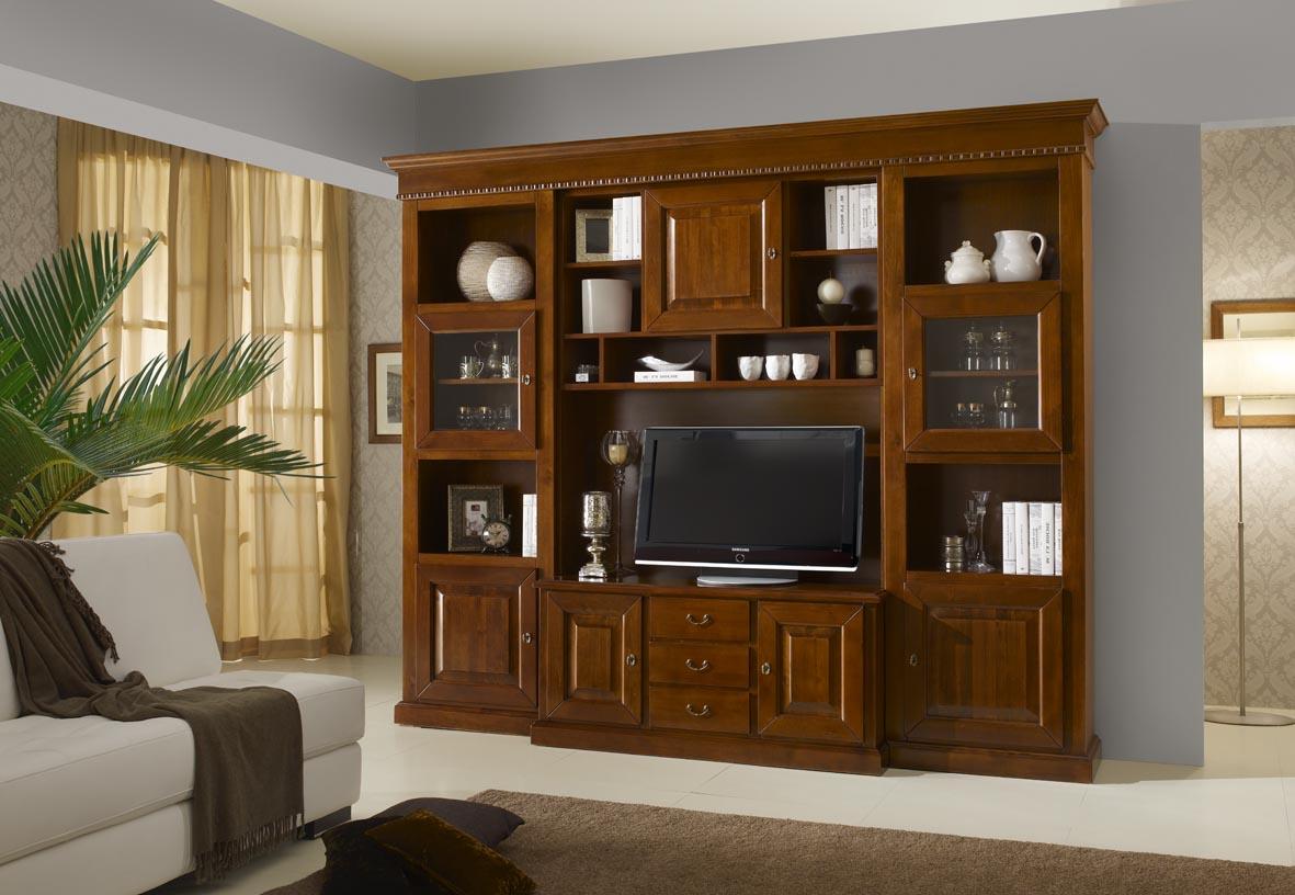Parete soggiorno in legno massello  Tutto Mobili, arredamento camere ...