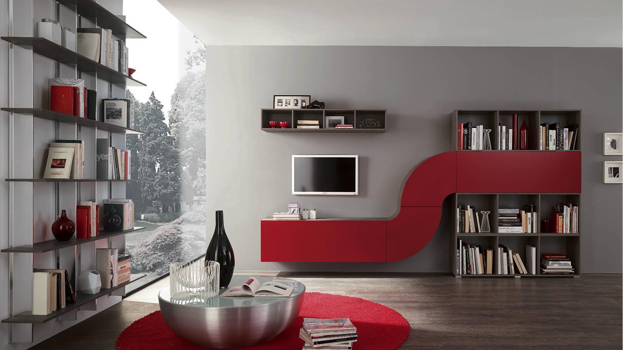 Parete attrezzata per soggiorno prezzo : parete camera letto viola ...
