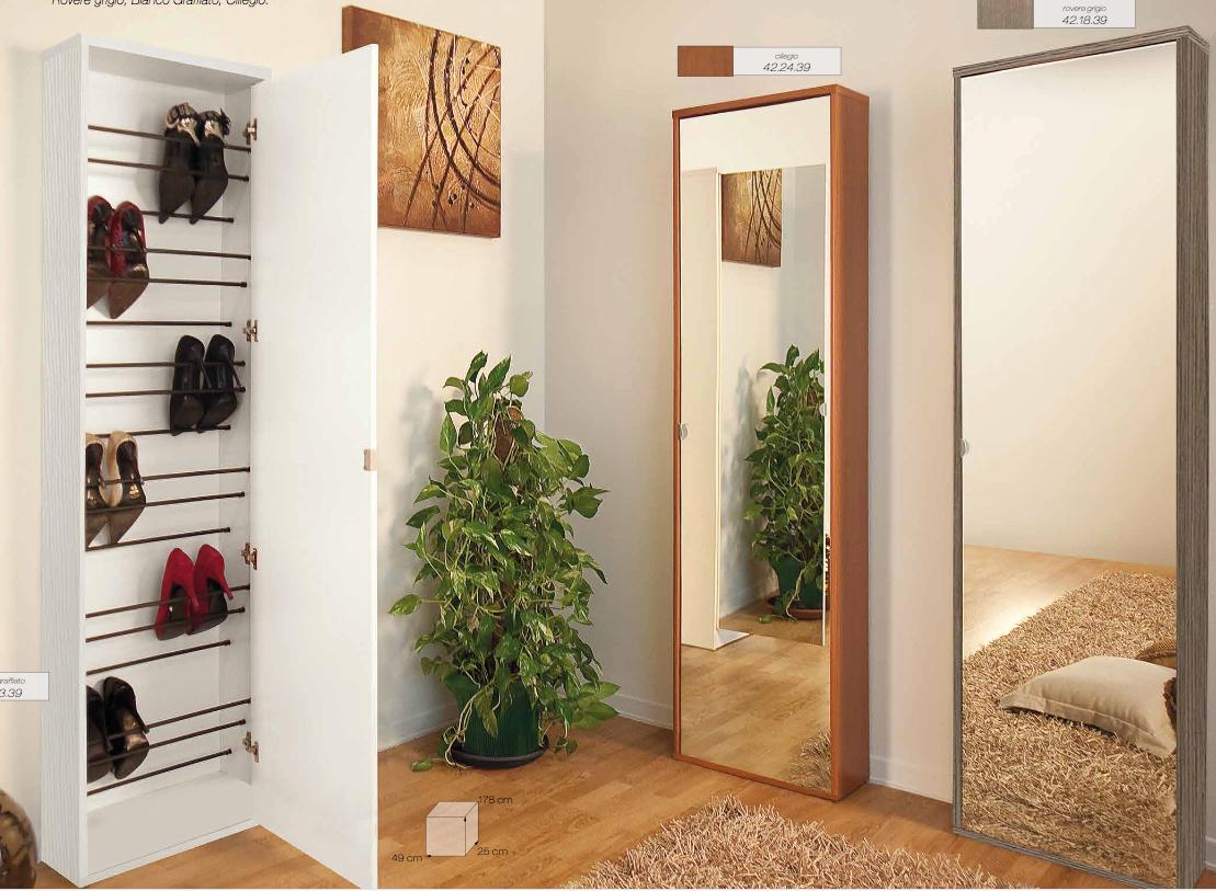 Scarpiera con specchio tutto mobili arredamento camere - Scarpiera a specchio ...