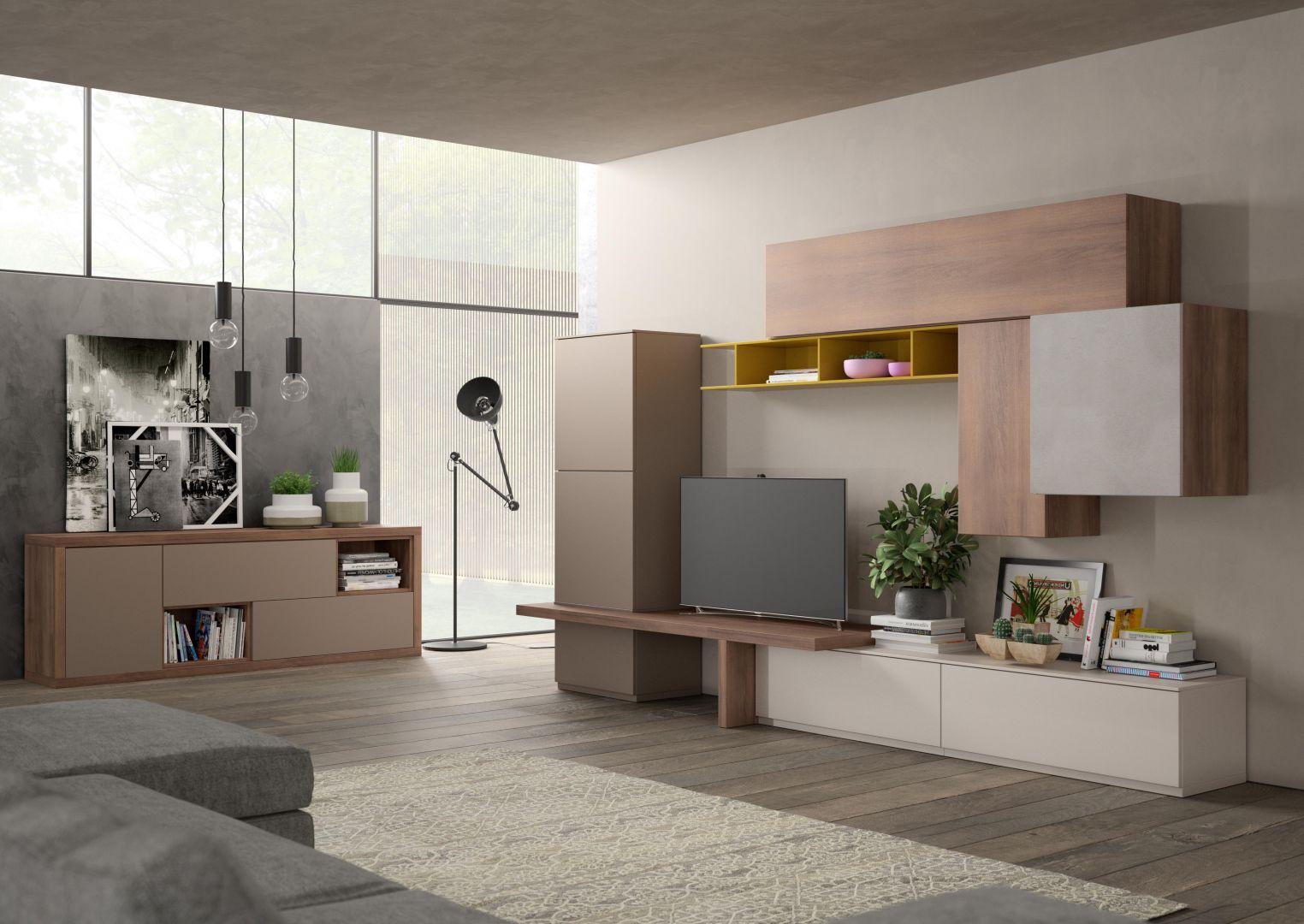Soggiorno Living Moderno Giessegi - Comp.570 € 1750.00 | Tutto ...