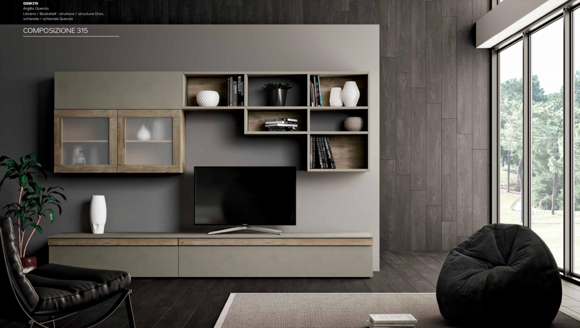 Parete Soggiorno Moderno Porta TV Mito 4.0 Imab - Comp.315 € 1390.00 ...