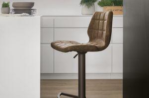 Sgabello regolabile metallo verniciato e seduta soft touch target