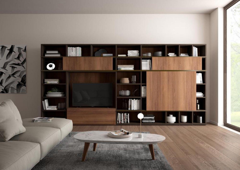 Soggiorno Living Moderno Giessegi - Comp.557 € PREVENTIVO ...