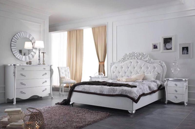 Camere Da Letto Matrimoniali Complete Classiche.Camera Moderna Classica Viola Bianco Mobilpiu 5590 00 Tutto