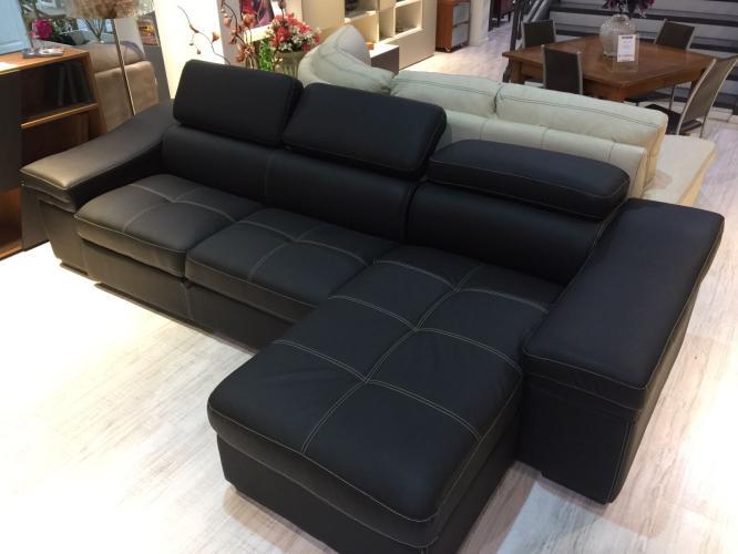 Ufficio Divano Nero : Svendita divano angolare outlet ecopelle ultimo pezzo nero