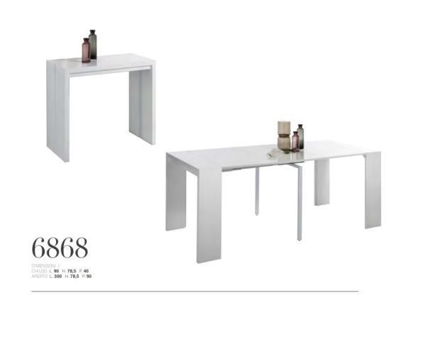 Tavolo consolle allungabile fino a 3 metri giessegi tutto mobili arredamento camere - Tavoli allungabili fino a 3 metri ...