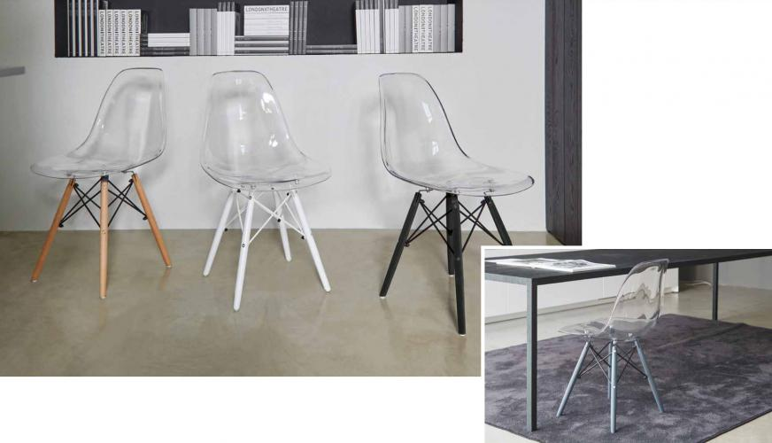 Sedia moderna lisa in policarbonato wo u20ac 75.00 cad. tutto mobili