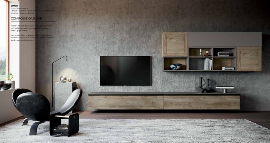 Parete Soggiorno Moderno Porta TV Mito 4.0 Imab - Comp.309 | Tutto ...