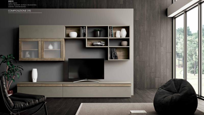 Parete soggiorno moderno porta tv mito 4 0 imab for Mobili ufficio outlet
