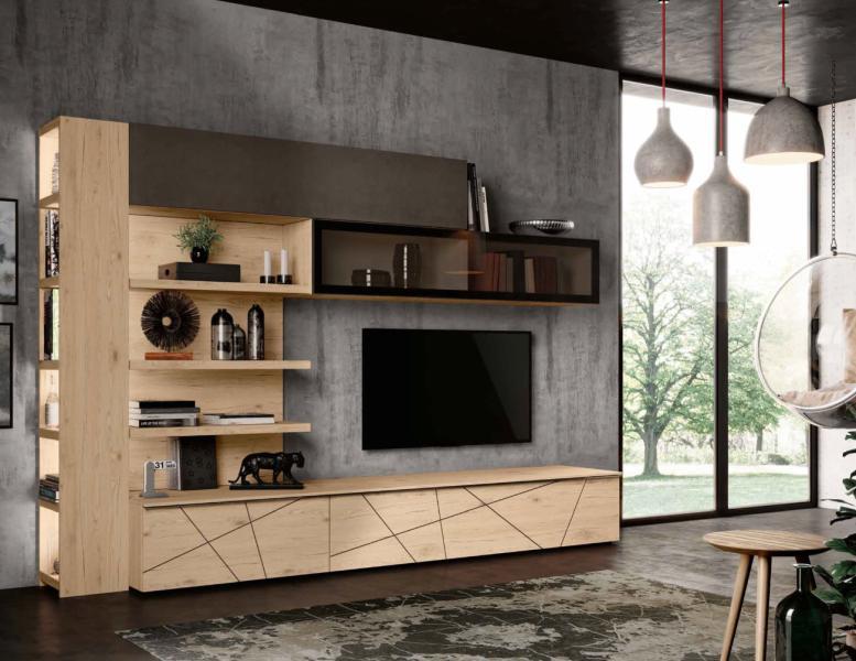 Soggiorno moderno tutto mobili arredamento camere cucine ufficio roma - Imab group cucine ...