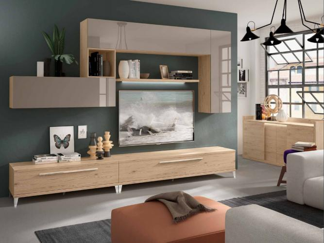 Soggiorno completo moderno kubo 3 0 imab group composizione 308 tutto mobili - Imab group cucine ...