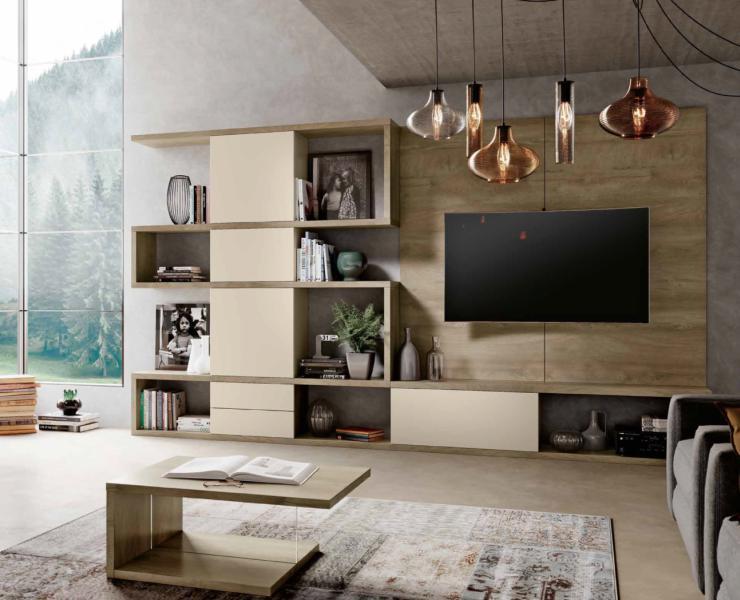 Parete mito zigzag 1390 tutto mobili arredamento for Coupon soggiorno roma