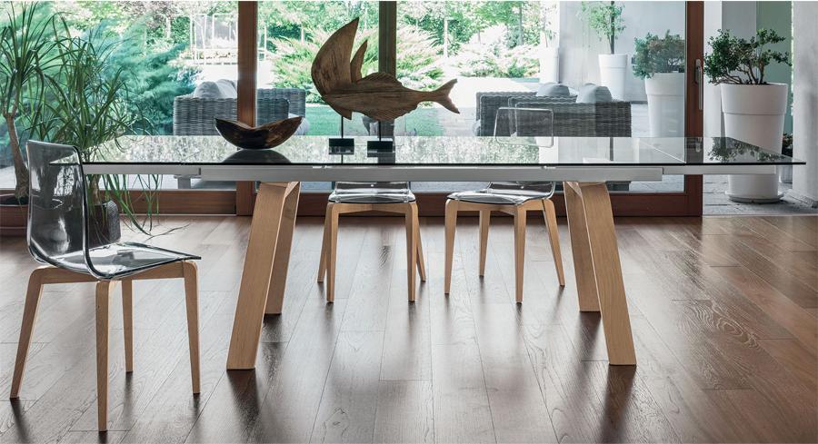 Arredo Ufficio Legno Massello : Sedia moderna contemporanea in legno massello e policarbonato