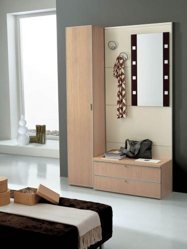 Ingresso mobile moderno con specchio colonna armadietto e cassettiera dinamika comp 355 - Mobili ingresso roma ...