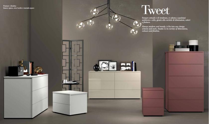 Tweet gruppo com e comodini moderno imab tutto mobili for Mobili ufficio como
