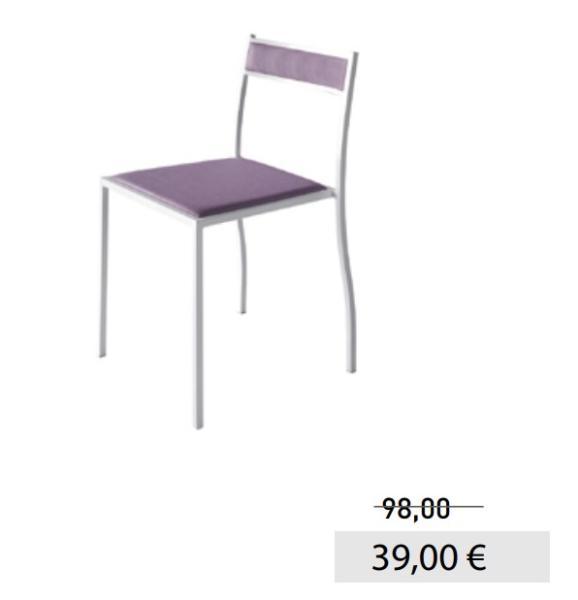 Sedie promo tutto mobili arredamento camere cucine for Sedie ufficio roma